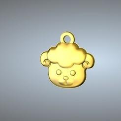 Free 3D print files Q1 type 08-Goat pendant, 3D_Dragon