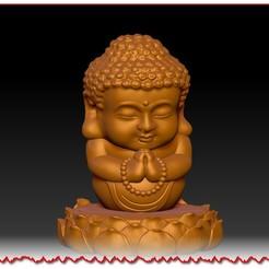 念心經寶寶佛擺件 A3.jpg Télécharger fichier STL Les ornements du Bouddha des bébés • Plan imprimable en 3D, 3D_Dragon
