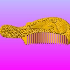 Download 3D printer designs Peacock comb, 3D_Dragon