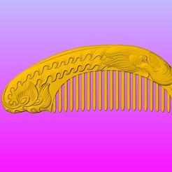 Download 3D print files Single phoenix comb, 3D_Dragon