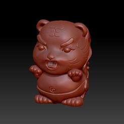Download 3D printer model Zodiac 3D Q version  3 Tiger, 3D_Dragon