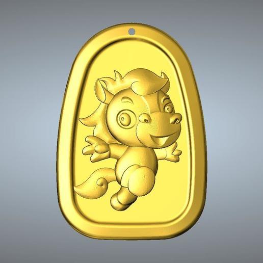 Download 3D model QC type Zodiac pendant 7 Horse, 3D_Dragon