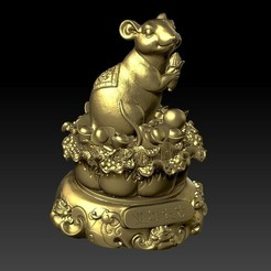 Download 3D model China Year of the Rat Fortune Decoration 31, 3D_Dragon