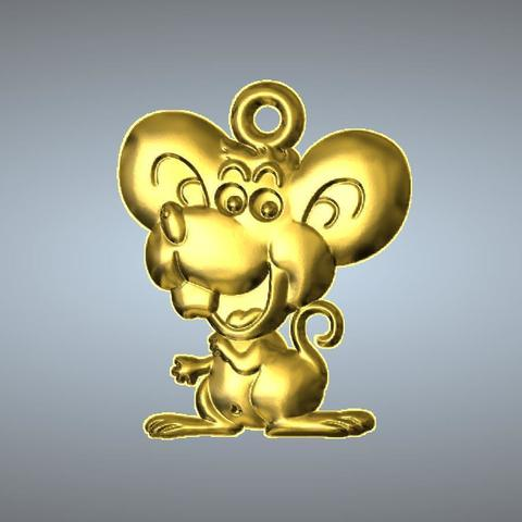 3D print files Q2 type 01-Mouse pendant, 3D_Dragon