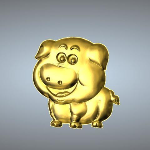 3D printer models Q2 type 12-Pig pendant, 3D_Dragon