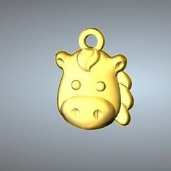 Free STL files Q1 type 07-Horse pendant, 3D_Dragon