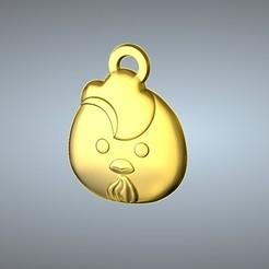 Free STL Q1 type 10-Chicken pendant, 3D_Dragon