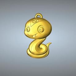 Télécharger objet 3D Pendentif Zodiaque type QD 6 Serpent, 3D_Dragon