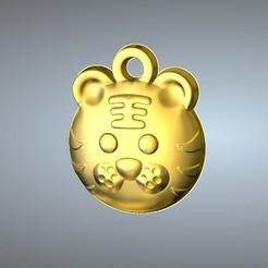 Free 3D print files Q1 type 03-Tigeer pendant, 3D_Dragon