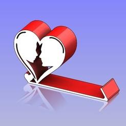 Descargar diseños 3D Soporte para teléfono Heart Shape 5, 3D_Dragon