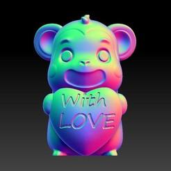 Download STL files Valentine's Day Jewelry Zodiac - 9 Monkey with love, 3D_Dragon
