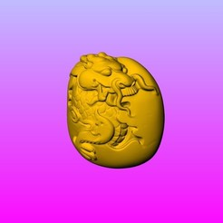 A5.jpg Download STL file 12 zodiac  olive FIG carving Drangon • 3D printer model, 3D_Dragon