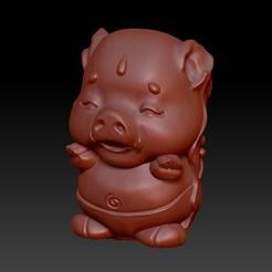 Download 3D printing designs Zodiac 3D Q version  12 Pig, 3D_Dragon