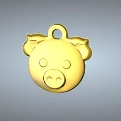3D print files Q1 type 12-Pig pendant, Dorae_3D_Dragon