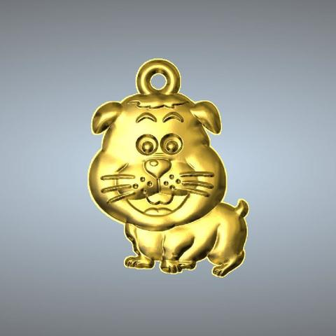 STL files Q2 type 11-Dog pendant, 3D_Dragon