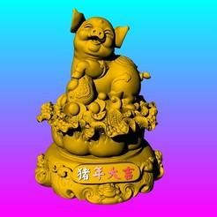 Download 3D printer files GATHERING WEALTH-Pig fortune, 3D_Dragon