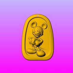 Descargar diseños 3D Llavero Mickey colgante 1-3, 3D_Dragon