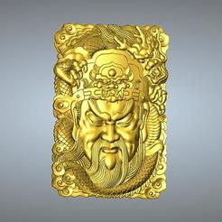 Download 3D printer model Guan Gong Pendant 35-41, 3D_Dragon