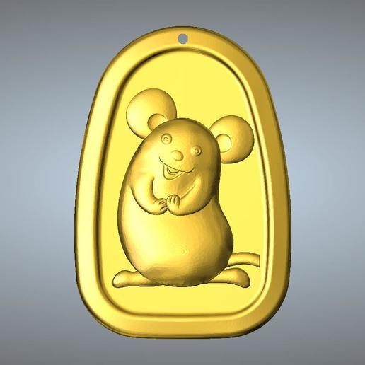 Download 3D model QC type Zodiac pendant 1 Rat, 3D_Dragon