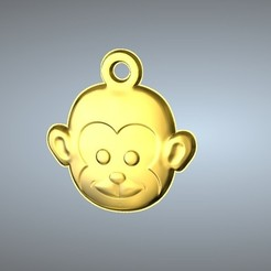 Free 3D printer designs Q1 type 09-Monkey pendant, 3D_Dragon