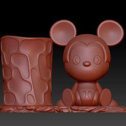 Download 3D printer templates Mickey  Pen holder, 3D_Dragon