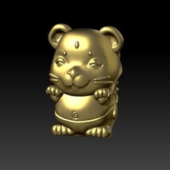 Download 3D printing files Zodiac 3D Q version  1 Rat, 3D_Dragon