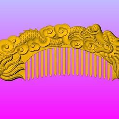 Download 3D model Dragon comb 2, 3D_Dragon