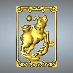 Objet 3D Nouveau type Zodiac pendentif 2 OX, 3D_Dragon
