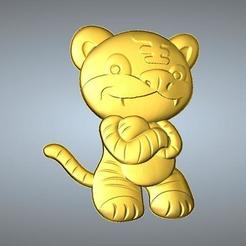 Free 3D print files QA TYPE ZODIAC PENDANT 3 TIGER, 3D_Dragon