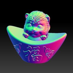 Download 3D printer designs Zodiac Gold Ingot Edition   9 Monkey, 3D_Dragon