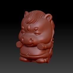 Download 3D printing files Zodiac 3D Q version  7 Horse, 3D_Dragon