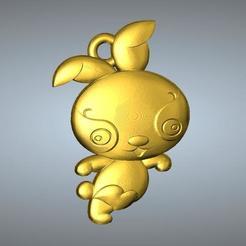 Télécharger fichier imprimante 3D QD pendentif zodiaque type Zodiaque 4 Lièvre, 3D_Dragon