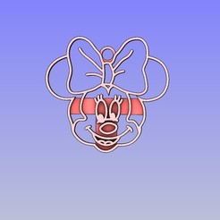 Minnie Pendant.jpg Télécharger fichier STL Pendentif Minnie • Objet pour imprimante 3D, 3D_Dragon