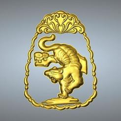 Télécharger objet 3D Pendentif zodiaque en jade sculpté en ligne 3 Tigre, 3D_Dragon