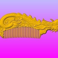 Download 3D printing designs Dragon comb 1, 3D_Dragon