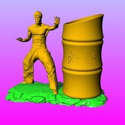 Télécharger fichier imprimante 3D Bruce Lee Porte-stylo Victory, 3D_Dragon