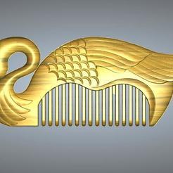 Download 3D printing designs Black swan comb, 3D_Dragon