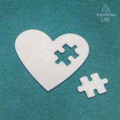 Fichier imprimante 3D Puzzle de coeur, RandomLab