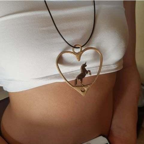 Download 3D print files Unicorn necklace, hdad