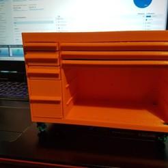 Télécharger fichier STL RC 1/10 servante tiroir et outils, hdad