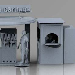 Télécharger fichier imprimante 3D RC 1/10 station service, hdad