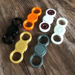modelo stl gratis Fidget Espinner de tres anillos, danielaguiar1213