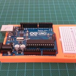 Télécharger fichier STL gratuit Arduino Uno & Mini stand de planche à pain • Modèle pour impression 3D, murbay52