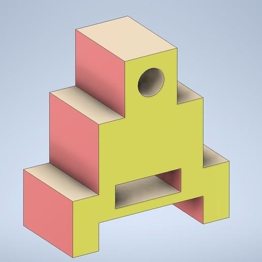 MODEL18.jpg Télécharger fichier STL gratuit Exemple de dessin technique 18 • Objet imprimable en 3D, murbay52