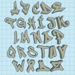 abc_graff.PNG Download STL file graffiti alphabet • Design to 3D print, ludovic67