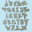 Download free STL graffiti alphabet, ludovic67