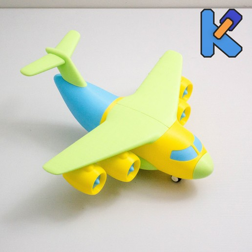 Download free STL file Transport Aircraft Toy Puzzle • 3D printing design, HeyVye