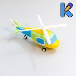 DSC09040kj.jpg Download free STL file Helicopter Toy Puzzle • Design to 3D print, HeyVye