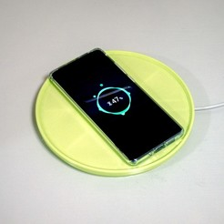 Download free STL file Customizable Extension Tray for Wireless Charging Pads, yyh1002