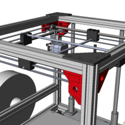 Free 3D file Sharp Gantry for Ultimaker 2 Aluminum Extrusion, yyh1002